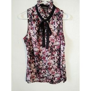 The Limited Ruffle Neck Floral Tie Blouse